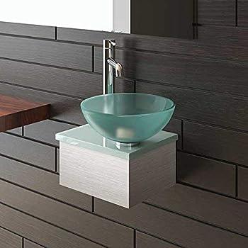 ALPENBERGER Serie Keramikwaschbecken Waschschale  Waschtisch Glasplatte