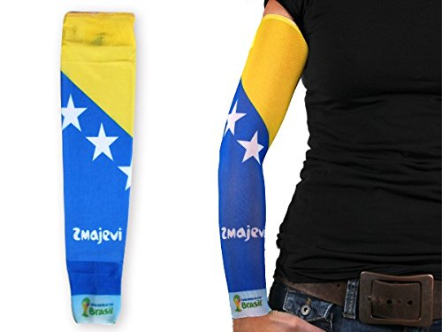 1 manica con tattuaggio finto in stile calcio per tifosi bandiera nazionale internazionale paesi mondiali europei spettacolo braccia coppa estate elastico per uomini e donne, :Bosnia 102