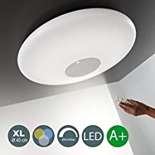 22W LED Deckenleuchte Warmweiß 3000K-6000K 2000LM Dimmbar LED Wohnzimmer Esszimmerleuchte Inkl. Fernbedienung Nachtlicht- Und Timerfunktion Esstischleuchte 230V 1 Flammig IP20 Rund EEK A+