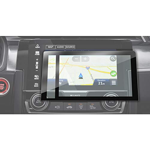 YEE PIN Displayschutzfolie Kompatibel mit Honda Civic 2016-2018 | GPS Auto Navigation Displayschutz Kratzfeste HD Hartglas (7 Zoll)