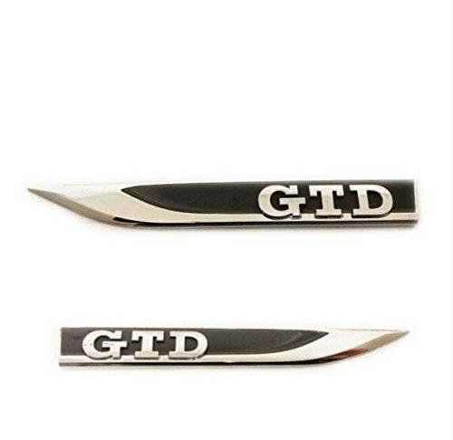 Volkswagen GTD original Emblema Logo Guardabarros Logotipo Pegatina izquierdo y derecho Kit - VW 5G0 853 688 N CMT y 5G0 853 688 P