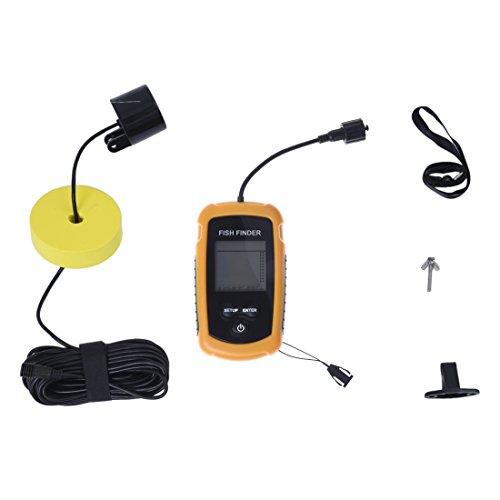 SODIAL (R) 100m Tragbare Aufnahme Echolot Fishfinder Alarm-Lichtschranke (Rumpf Schwimmer)