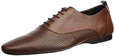 Franco Leone Men's Tan Leather Formal Shoes - 9 UK/India (43 EU)
