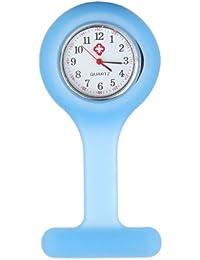 Affaire infirmière de silicone Docteur Broche Tunique montre à gousset --- lumière bleue