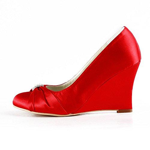 Minitoo , Chaussures de mariage tendance femme Red-9cm Heel