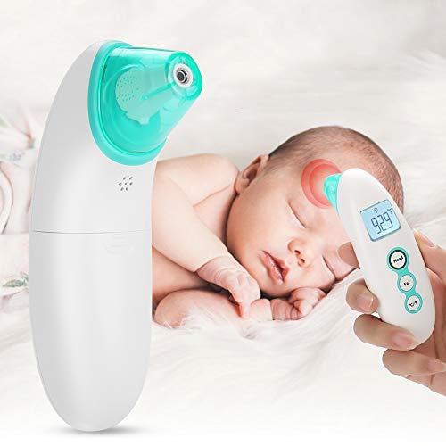 Baby Infrarot Ohrthermometer Stirnthermometer Fieberthermometer, No-Touch Digital Thermometer mit Speicherfunktion für Kleinkinder und Erwachsene, CE FDA & RoHS