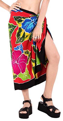avvolgere gonna pareo beachwear costume da coprire da bagno delle donne di costumi da bagno di usura piscina sarong usura resort costume da bagno Nero Rosso