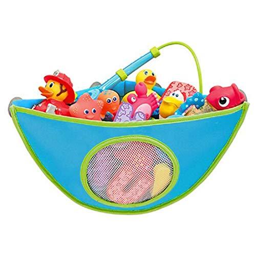 Makwes Babywanne Spielzeug Aufbewahrungstasche-4 Saugnäpfe - Badewanne Kleinkind Dreieck Spielzeug Veranstalter Spielzeug Handtuchhalter Kinder Badezimmer wasserdichte Spielzeug Aufbewahrungstasche