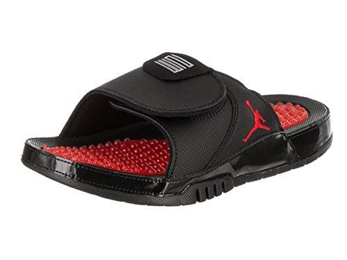 NIKE Jordan Men Jordan Hydro XI Retro Slide Black University Red-University Red US Size 8