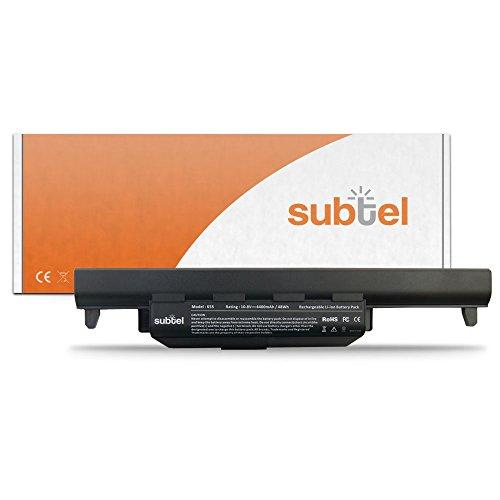 subtel® Akku für Asus F75 A55 K55 X75 F55 R500 X55 R700 R704 K75 P55 R503 A45 A75 A85 E45 E55 F45 K45 P45 Pro45 Pro55 Q500 Q506 Q56 R400 R403 R506 U57 X45 series - 4400mAh Ersatzakku ASUS A32-K55 A33-K55 A41-K55