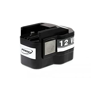 Powery Rechargeable battery for Atlas Copco type System 3000 B12 1500mAh, 12V, NiMH