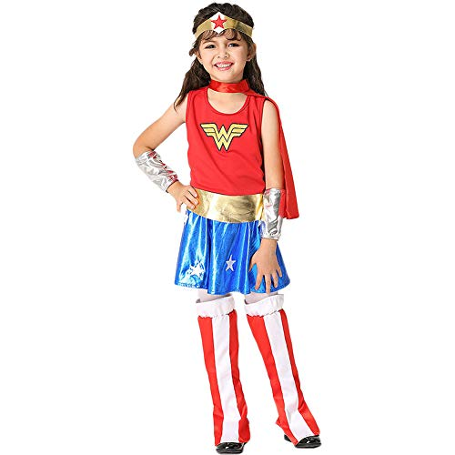 Costour Mädchen Cosplay Kostüm Superwoman Karneval Halloween Party Wonder Woman Jumpsuit ()