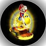 Fondant Tortenaufleger Tortenbild Geburtstag Super Mario P3
