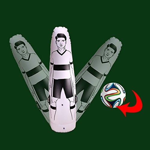 Wildlead Inflatable Football Training Goal Keeper Column Stand Tumbler Soccer Train Dummy for Kid Adult      1