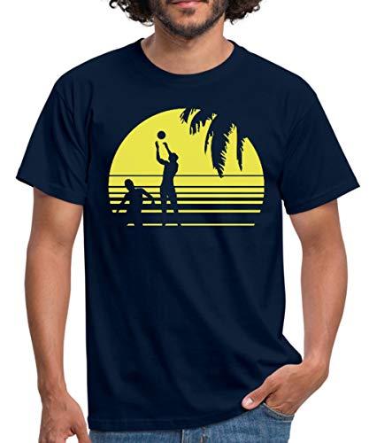 Beach Volleyball Männer T-Shirt, M, Navy