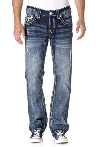 Rock Revival - - Estep J202 Straight Jeans Hommes Denim
