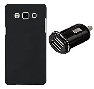 D'clair Combo of Back Cover and Car Charger For Samsung Galaxy J2