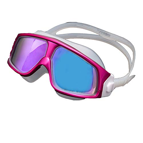 TGBN Großer Rahmen HD-Vakuumbeschichtung Bunte beschichtete Schwimmbrille hochwertige Antibeschlagbrille Schutzbrille Frauen Schwimmbrille, UV-Schutz Galvanische Gläser-White