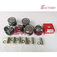 1FZ Pistón + anillo de pistón 4500 4800 LC80 LC100