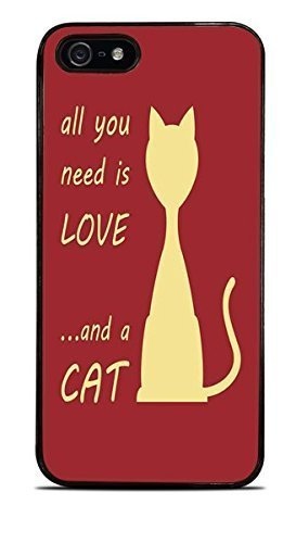All You Need Is Love and A CAT Red Background Black Hardshell For SamSung Galaxy Note 3 Phone Case Cover