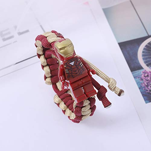 jxcssmqq Buzz Lightyear Building Block Bracelet Braided Bracelet Hand Strap Birthday Gift Iron Man
