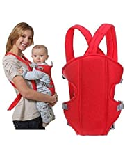 Inditradition Multi-Functional Front Baby Carrier | Ideal for Kids 0 to 3 Years | Soft Cushion, Adjustable Straps (Red)