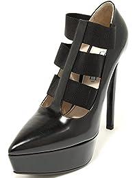 Prada 2519G Decollete Nero Vitello Spazzolato Scarpa Donna Shoes Women 81e1eadce27
