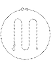 Swank Silver Ball Design 92.5 Pure Sterling Silver Anklets (Payal) For Women