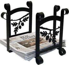 n 44,5cm Eichel Zeitung, schwarz, Papierkorb ()