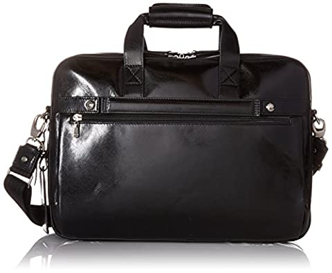 Bosca Old Leather Stringer Bag (Black)