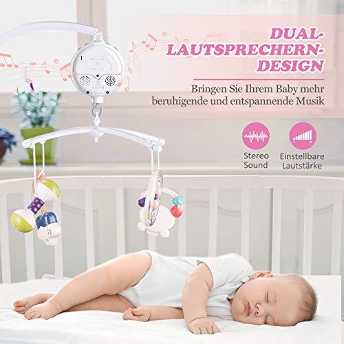 【Neue Version】TopElek Elektrische Baby Spieluhr mit 128 MB Micro-SD-Speicherkarte(Erweiterbar bis 2 GB) für Ihr Babymobile, 12 Melodien inklusive. - 3