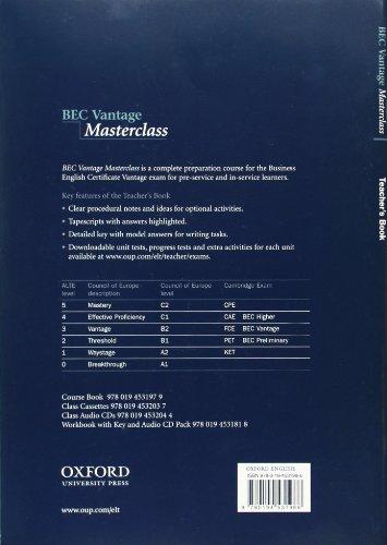 BEC Vantage Masterclass. Teacher's Book: Teacher's Book Upper-intermediate l (Bec Masterclass)