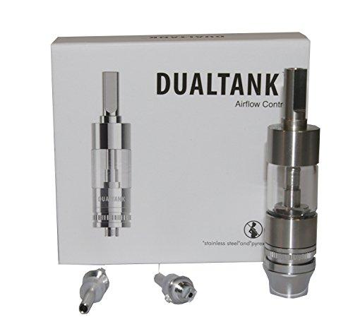 Dipse AERO Tank - Dualtank für ego-t eZigarette aus Echtglas und Edelstahl Verdampfer Atomizer Clearomizer Glassomizer (Aero Tank)