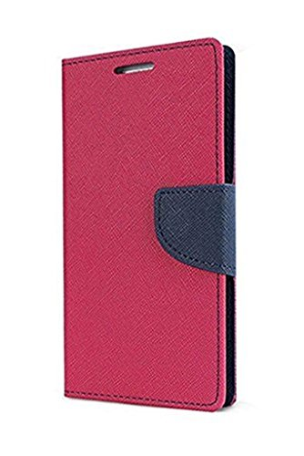 SCHOFIC Premium Fancy Wallet Diary Faux Leather Mobile Flip Case Cover [Pouch] with Card Slots [POCKETS] , Stand View and Magnetic Strap [LOCKING] for Micromax A290 Canvas Knight Cameo -Pink