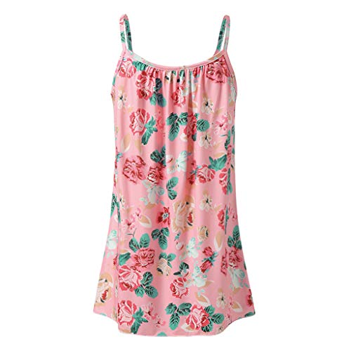 57345b924e38 Toamen Womens Summer Casual Cami Vest Sale Boho Printed Sleeveless Strappy  Swing Vest Top Blouse (