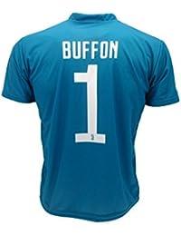 Camiseta de Fútbol GIGI BUFFON 1 Juventus AZUL Temporada 2017-2018 Replica OFICIAL con LICENCIA - Todos Los Tamaños NIÑO y ADULTO (XL Extra Large)