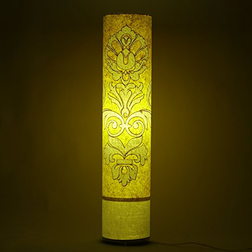 engineered-handmade-paper-yellow-white-shade-floor-lamp-office-study-modern-night-light