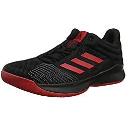 Adidas Pro Spark 2018 Low, Zapatillas de Baloncesto para Hombre, (Negbás/Escarl/Gricua 000), 43 1/3 EU