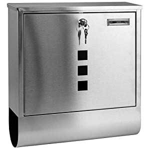 Home Discount Stainless Steel Letter Mail Post Box Wall Mountable With Newspaper Holder FREE DELIVERY