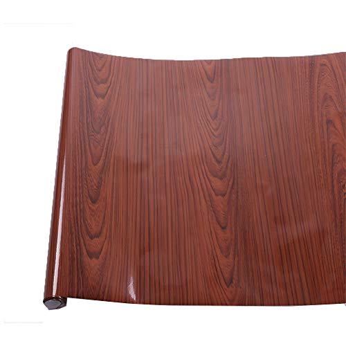 (HOHO Abmessungen 124x 50cm Hochglanz Holz Maserung Kontakt Papier Selbstklebendes Vinyl KFZ-Innenraum Wrap Holz Papier)