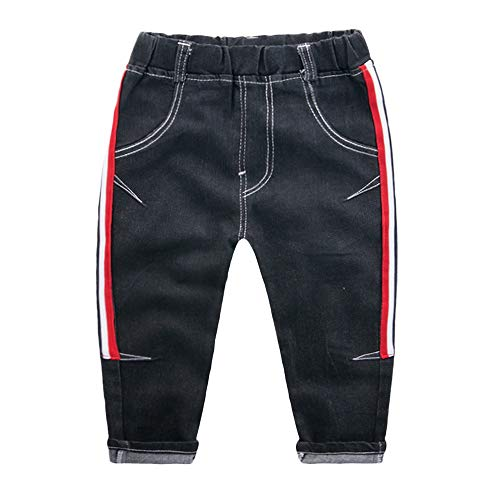 (Quaan Kinder (18M-5T) Mode niedlich Baby Kinder Jungen Mädchen Streifen Gedruckt Beiläufig Lange Hose Jeans Hose Warm Winddicht nett Retro Reise Solide Keuchen)