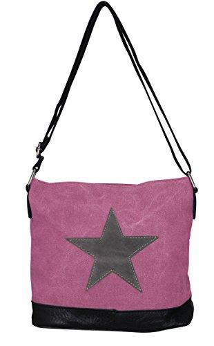 PiriModa, Borsa a spalla donna Multicolore multicolore Modell 3 Pink/Grau