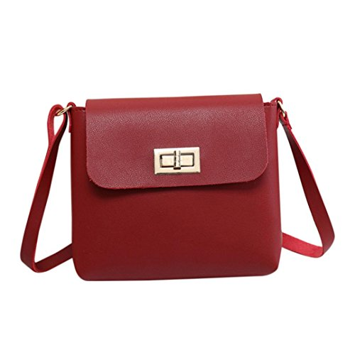 BZLine® Women's Shoulder Bag Handbag Mini Messenger Shoulder Bag Handtasche (Rot) (Mini-messenger Bag Rote)