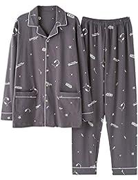 Wsxxnhh Pijama De Moda Casual Pijama De Otoño E Invierno De Los Hombres Pantalones De Manga