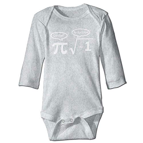 Unisex Infant Bodysuits Nerd Geek PI Boys Babysuit Long Sleeve Jumpsuit Sunsuit Outfit Ash