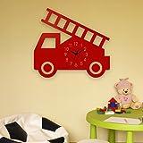 Yourlivingart Wanduhr Feuerwehr-Rot, Kinderuhr, Uhr für Kinderzimmer Vergleich