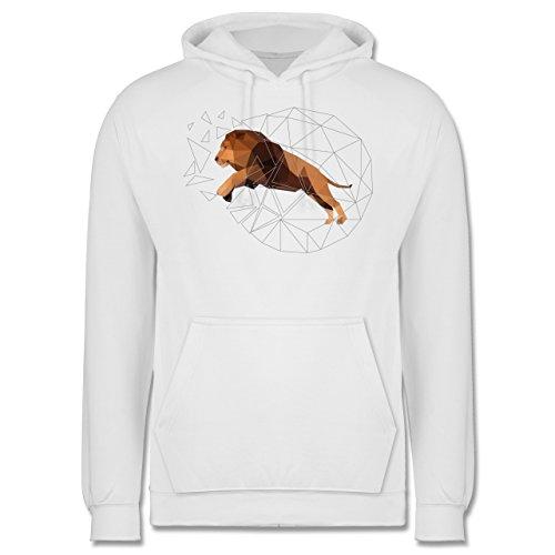 Sonstige Tiere - Freiheit Löwe - Männer Premium Kapuzenpullover / Hoodie Weiß