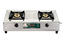 Golden Surya Maxx Stainless Steel -2 Burner Gas Stove
