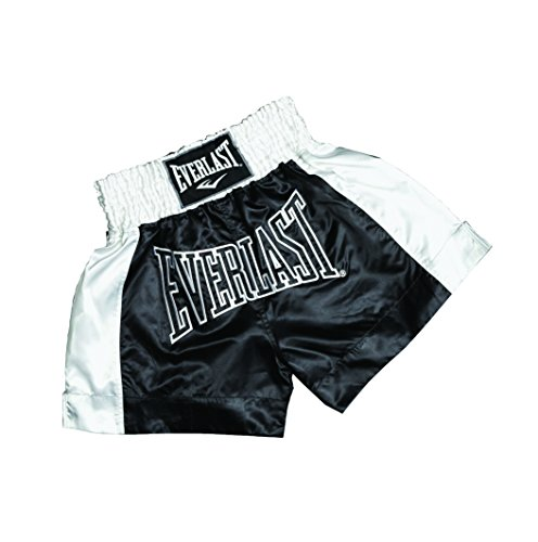 Everlast Erwachsene Hose Thai Boxing Short, Black/White, M