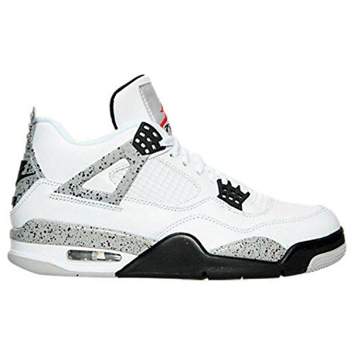 Foto de Nike Air Jordan 4 Retro OG, Zapatillas de Baloncesto para Hombre, Blanco (Blanco (White/Fire Red-Black-Tech Grey)), 43 EU